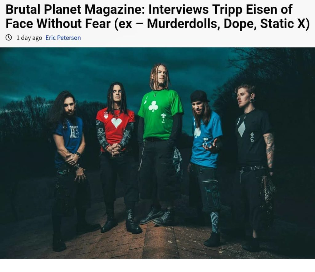 Brand new interview with Tripp for Brutal Planet Magazine. Check it out!    #Fac...
