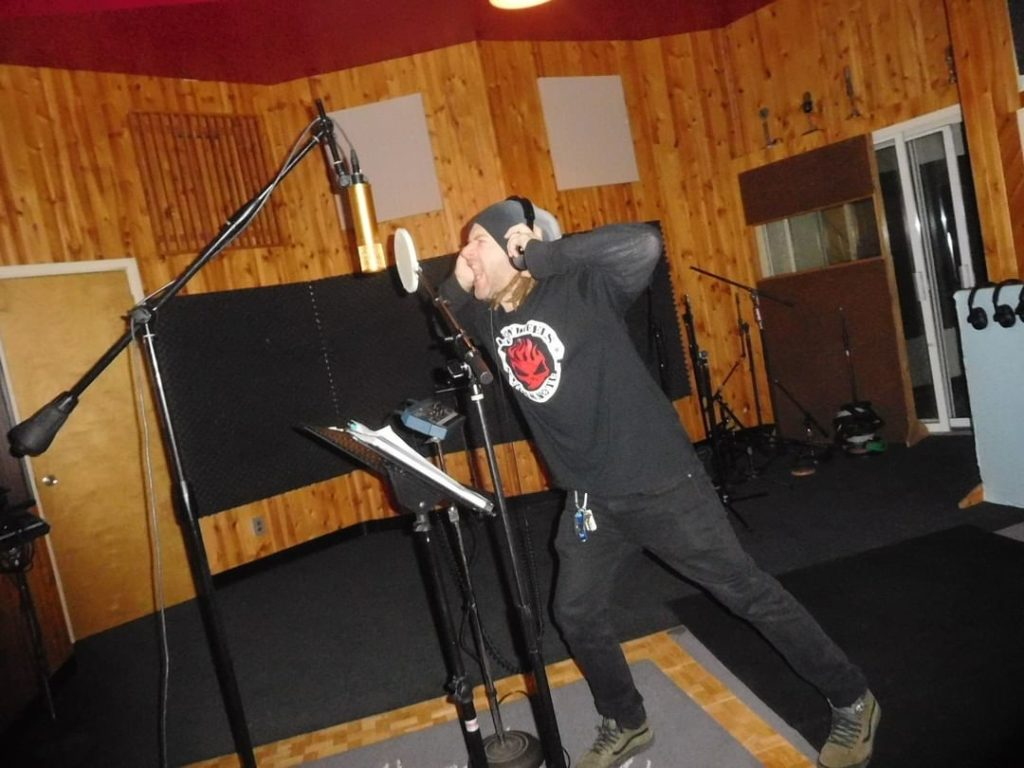 "Kenny tracking vocals (""Deliverance"") at Trax East  #TrippEisen #StartAWar #Stat..."
