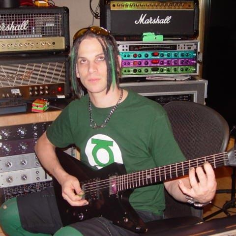 "Studio sessions for 'Start A War'. Trip playing Wayne""s guitar 2004 #trippeisen ..."