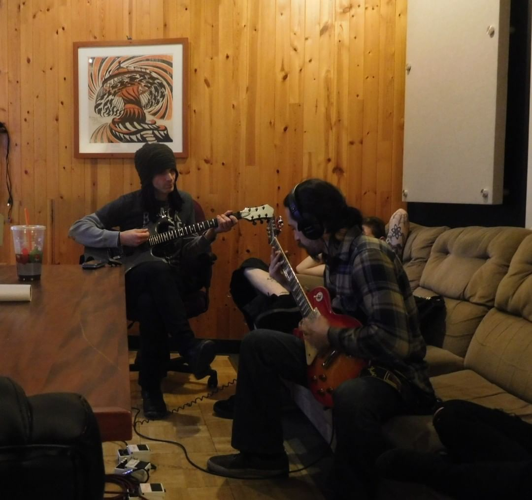 Tripp & Dante messing around with some parts, prior to tracking at Trax East#...