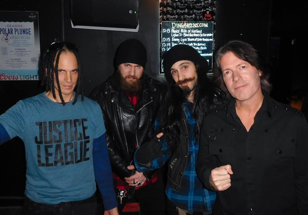 Tripp, Sledge, and Dante with That Metal Show's Don Jamieson and Jim Florentine ...