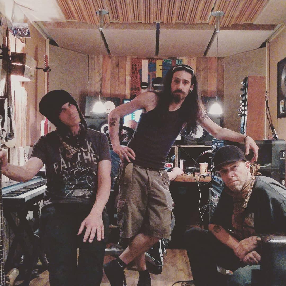 Tripp, Dante, & Mantis in the studio last week. Working on new material, includi...